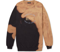 Oversized Bleached And Embroidered Loopback Cotton-jersey Sweatshirt