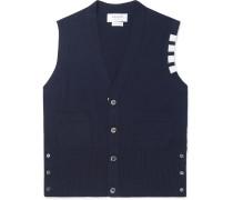 Striped Cashmere Sweater Vest