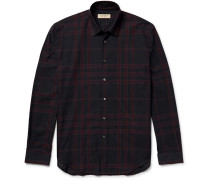 Slim-fit Checked Cotton-twill Shirt
