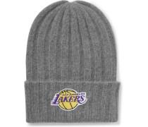 + Nba Los Angeles Lakers Appliquéd Cashmere Beanie