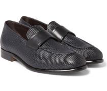 Pelle Tessuta Leather Loafers