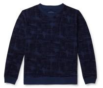 Oboro Koushi Flocked Loopback Cotton-Jersey Sweatshirt