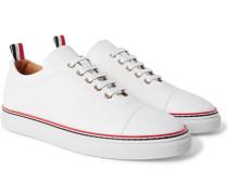 Pebble-grain Leather Sneakers