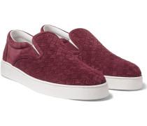 Intrecciato Suede Slip-on Sneakers
