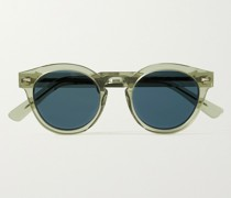 Abbesses Round-Frame Acetate Sunglasses