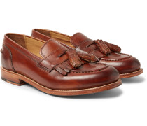 Mackenzie Burnished-leather Tasselled Kiltie Loafers