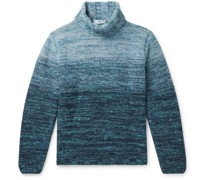 Mélange Merino Wool and Cashmere-Blend Rollneck Sweater
