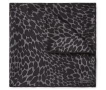 Leopard-Print Silk-Twill Pocket Square