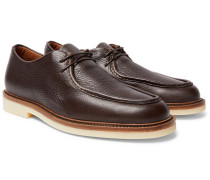 Dover Walk Textured-leather Derby Shoes
