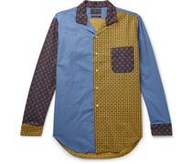 Patchwork Paisley-Print Cotton-Poplin Shirt