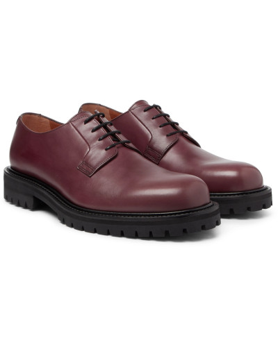 Jacques Leather Derby Shoes - Burgundy