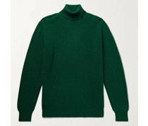 Ribbed Merino Wool and Cashmere-Blend Rollneck Sweater