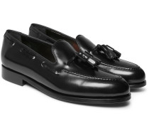 Simmons Tasselled Polished-leather Loafers