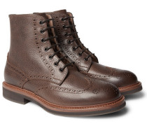 Full-grain Leather Wingtip Brogue Boots