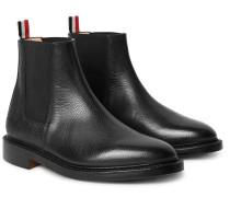 Pebble-grain Leather Chelsea Boots