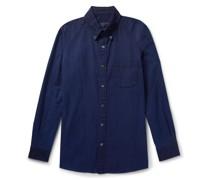 Button-Down Collar Indigo-Dyed Cotton Oxford Shirt