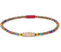 Gold, Diamond and Bead Bracelet