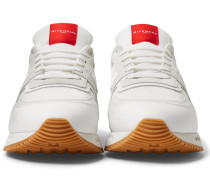 Panelled Mesh, Leather And Suede Sneakers