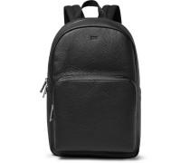 Crosstown Full-Grain Leather Backpack
