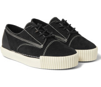 Perry Rubber-trimmed Suede Sneakers