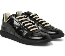 Replica Textured Patent-leather Sneakers