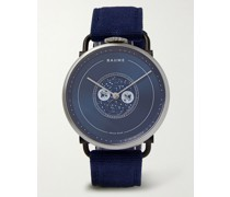 Moon-Phase 41mm PVD-Coated Stainless Steel and Cotton-Canvas Watch, Ref. No. 10637