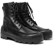 Tobias Rubber-trimmed Leather Boots