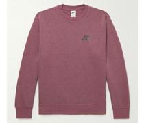 Sport Essentials+ Logo-Appliquéd Cotton-Blend Jersey Sweatshirt