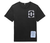 Printed Appliquéd Cotton-Jersey T-Shirt