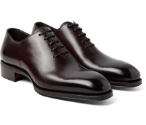 Gianni Burnished-leather Oxford Shoes