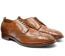 Princeton Burnished-leather Wingtip Brogues