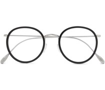 + Cutler and Gross Round-Frame Acetate and Silver-Tone Optical Glasses
