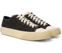 Skagway Leather-trimmed Wool-tweed Sneakers