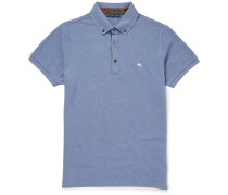 Paisley-trimmed Cotton-piqué Polo Shirt