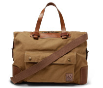 Colonial Leather And Canvas Duffle Bag - Brown