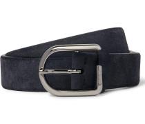 3cm Blue Suede Belt