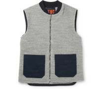 Panelled Wool And Cotton-blend Bouclé Gilet