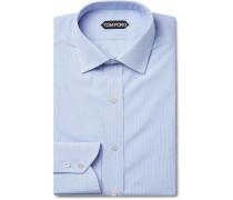 Blue Slim-fit Striped Cotton Shirt