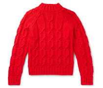Slim-Fit Cable-Knit Wool-Blend Sweater