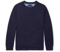 Indigo-dyed Loopback Cotton-jersey Sweatshirt