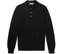 Slim-fit Knitted Cotton Polo Shirt