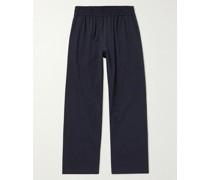 Armis Wide-Leg Cotton-Blend Twill Trousers