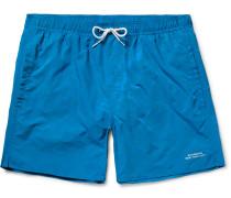 Timothy Checkerboard Mid-length Swim Shorts