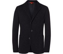Blue Torceo Slim-fit Unstructured Wool And Cotton-blend Blazer