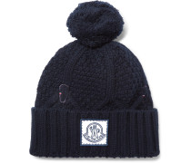 Cable-knit Virgin Wool Bobble Hat