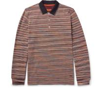 Space-dyed Cotton-piqué Polo Shirt