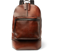 Scritto Polished-leather Backpack