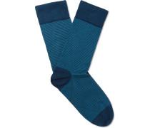 Hera Striped Sea Island Cotton-blend Socks