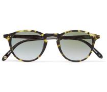 Hampton 46 Round-frame Tortoiseshell Matte-acetate Mirrored Sunglasses