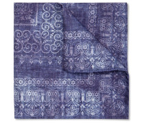 Printed Silk And Cotton-blend Pocket Square